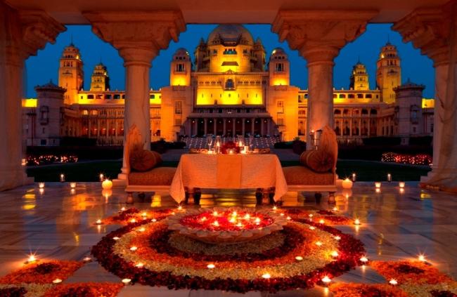 India con festival de luz Diwali y Nepal